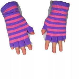 Fingerless Gloves Womens Stripe Texting Typing new
